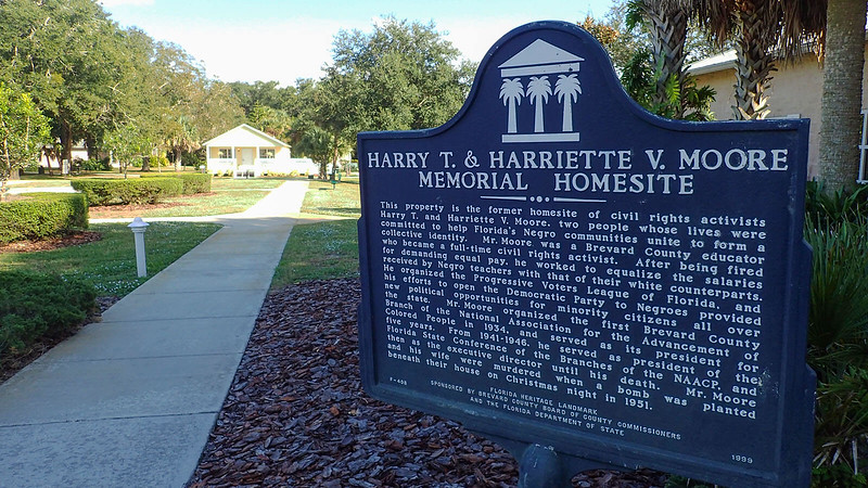 Historic Site Marker for Harry T & Harriette Moore Memorial