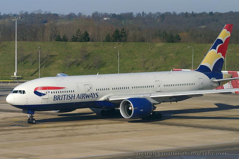 G-VIIL. Boeing 777-236/ER. British Airways. Gatwick. 260203.