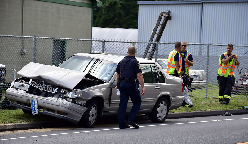 9/4/2019 Mike Orazzi | Staff The scene of a three-car crash on Terryville Road in Bristol Wednesday afternoon. At least one was transported from the scene and two vehicles were towed.