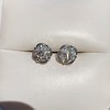 1.70ctw Old European Cut Diamond Clover Stud Earrings, GIA H-I SI 4