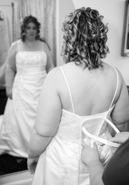 Bride Getting Ready mirror shot black and white.jpg