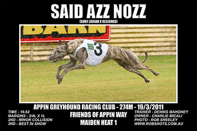 Appin Greyhounds - 19th March 2011