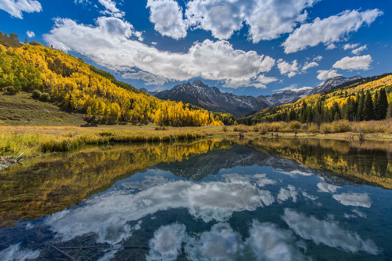 Mt. Sneffels - Reflection in Willow Swamp Basin Pond