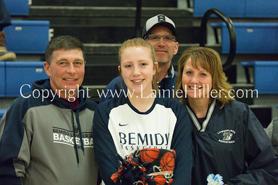 BHS GIRLS' VARSITY SENIOR NIGHT vs EGF, FEB 13, 2018