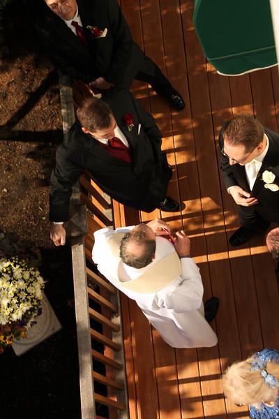 Perlongo Wedding Ceremony Arial View