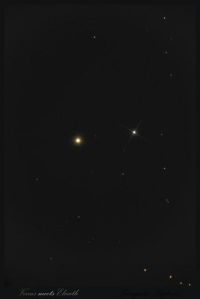 Venus meets Elnath