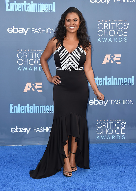 . Nia Long arrives at the 22nd annual Critics\' Choice Awards at the Barker Hangar on Sunday, Dec. 11, 2016, in Santa Monica, Calif. (Photo by Jordan Strauss/Invision/AP)