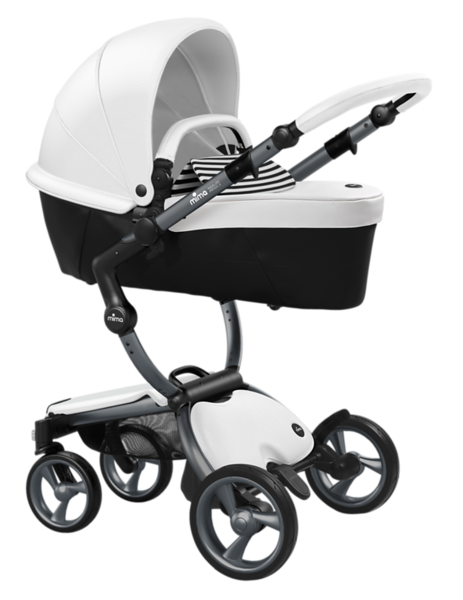 Mima_Xari_Product_Shot_Snow_White_Graphite_Chassis_Black_And_White_Stripe_Carrycot.png