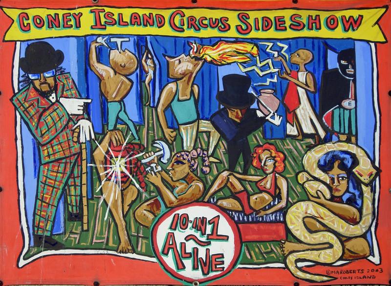 Coney Island sideshow