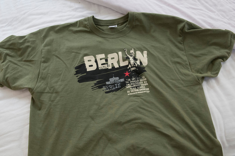 T-shirt from, Berlin. Picked it up at Charlottenburg Palace.
