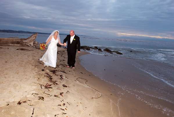 17 Bride and Groom Get Wet at the Beach