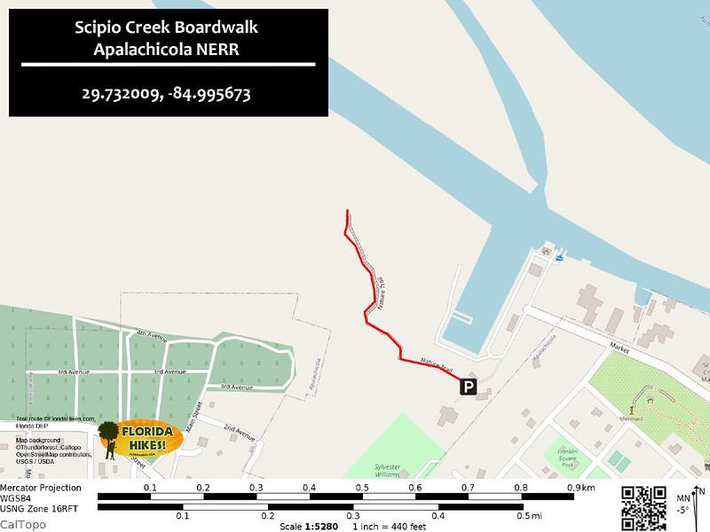 Scipio Creek Boardwalk Map
