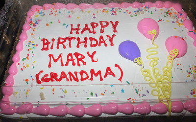 Aunt Mary Peck's 75th Surprise Birthday Party
