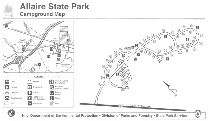 Allaire State Park (Campground Map)