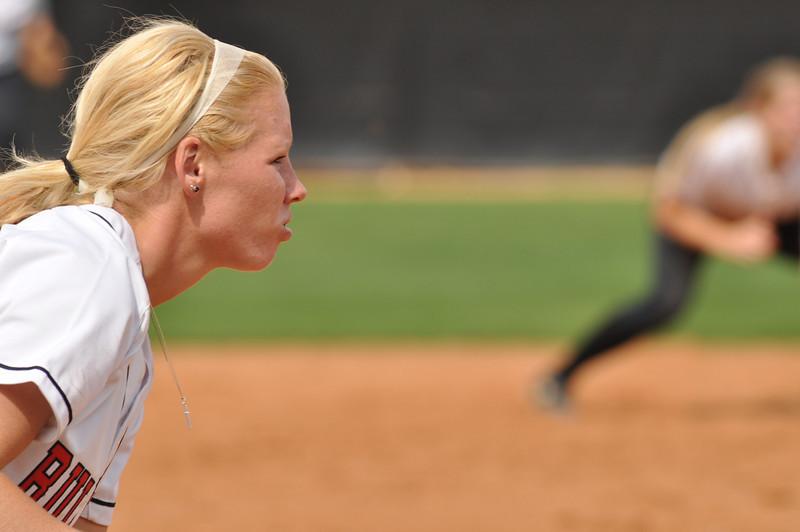 Jordyn Arrowood fields vs UNC Greensboro on March 22, 2012.