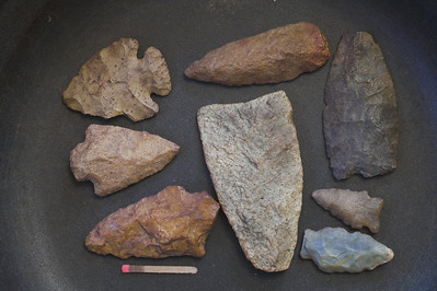 images of prehistoric arrowheads knifes and other tools high resolution photos used by native americans indians