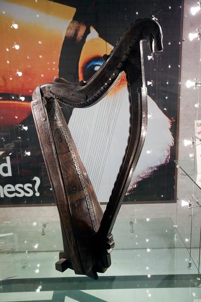 A harp, the symbol of Guinness and Ireland, Guinness storehouse, Dublin, Ireland