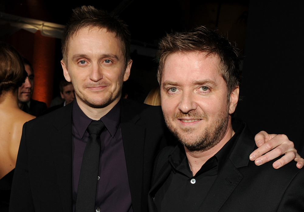 ". Director Tommy Wirkola and composer Atli (div)rvarsson arrive for the Los Angeles premiere of Paramount  Pictures\' ""Hansel And Gretel Witch Hunters\"" at TCL Chinese Theatre on January 24, 2013 in Hollywood, California.  (Photo by Kevin Winter/Getty Images)"