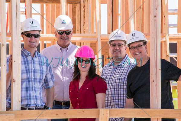 20150724_Exect Team tours dorm construction