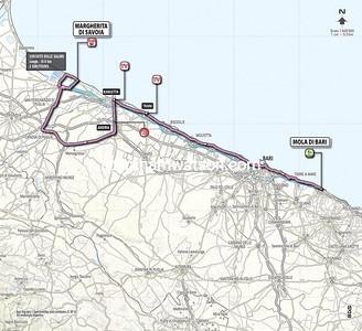 Giro d'Italia Stage 6: Mola di Bari > Margherita de Savoie, 169kms
