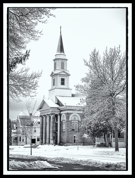 First Baptist Church B&W