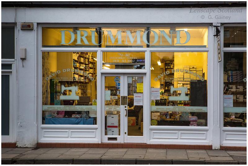 Drummond sewing machine shop, Haymarket Terrace