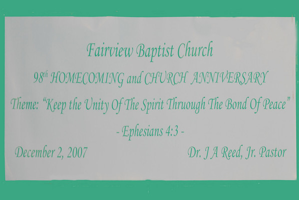 Fairview Baptist Church 98th Homecoming 2007