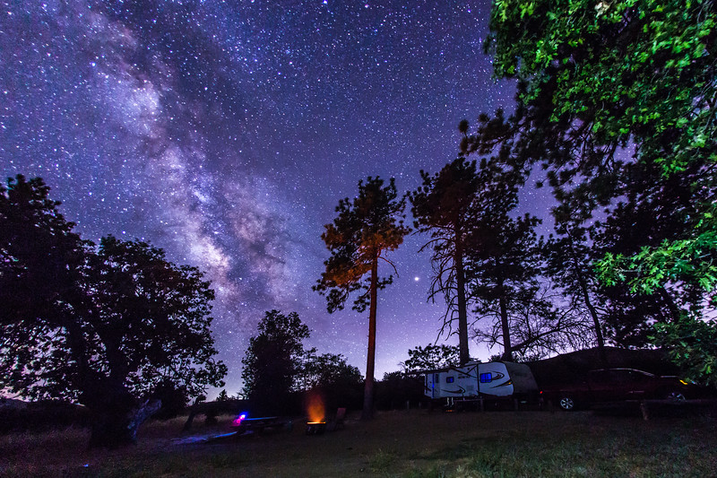Camping under the Milky Way in Cuyamaca Rancho State Park