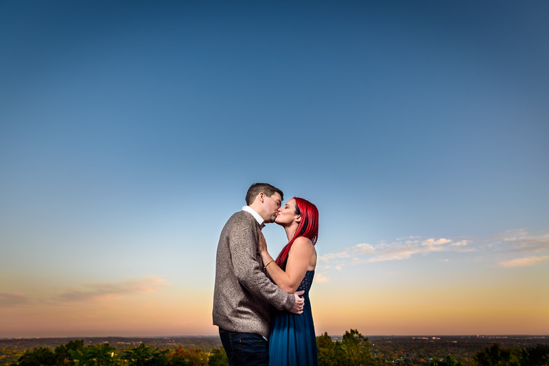 Lyndsey & Kevin's Engagement Session - Amazing Escape Room & Washington Rock Park