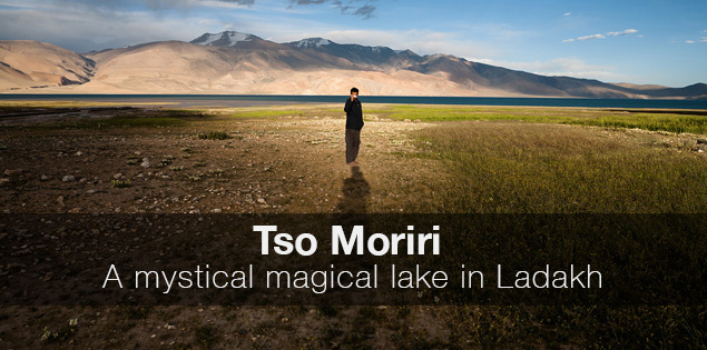 Tso Moriri, the magical high Himalayan mountain lake at a distance of 250 km from Leh in Ladakh, India