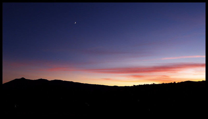 mt. tam and crescent moon at sunset.jpg