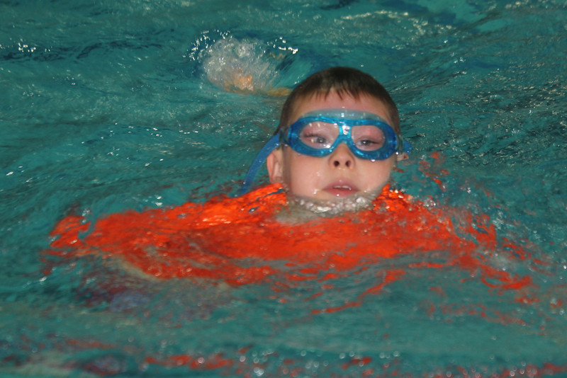 think Aaron's got those goggles tight enough?