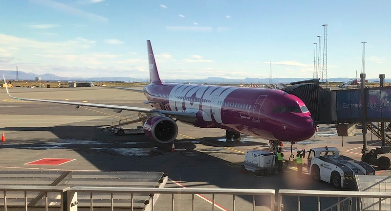 Arriving in Iceland on WOW airlines
