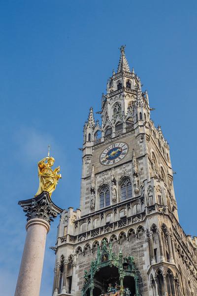 Marian Column and Rathaus, Munich