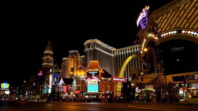 A slice of the Las Vegas strip.