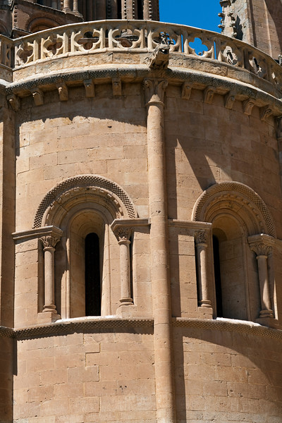 Romanesque detail, Old Cathedral, town of Salamanca, autonomous community of Castilla and Leon, Spain