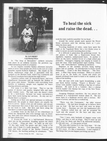 SoCal, Vol. 62, No. 24, October 26, 1970