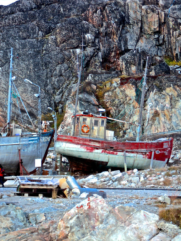 . Two broken down boats in Ilulissat, Greenland. Cynthia Palormo/Discovery Communications