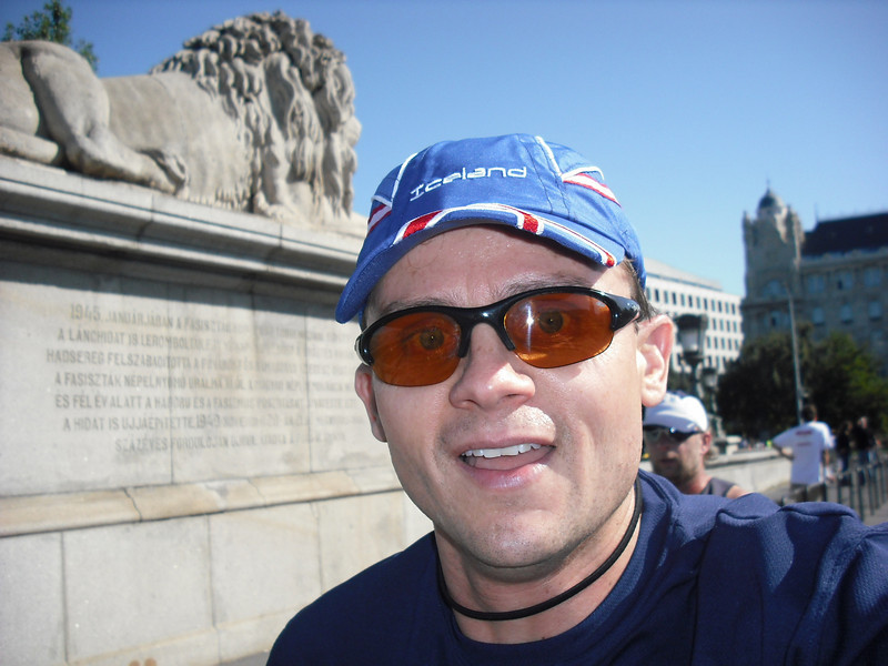 On Chain Bridge.  I was going for my personal best so I put the camera away after this photo.