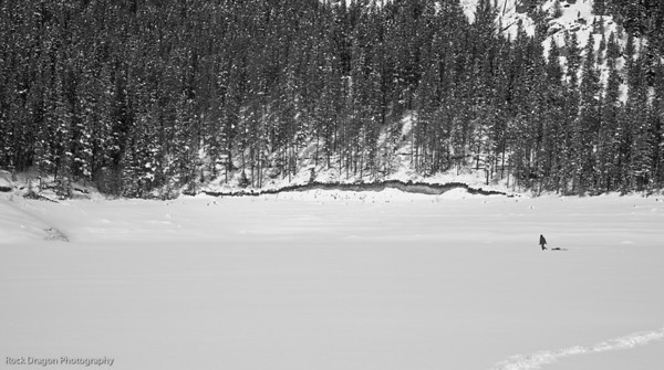 Upper Kananaskis Lake in Winter