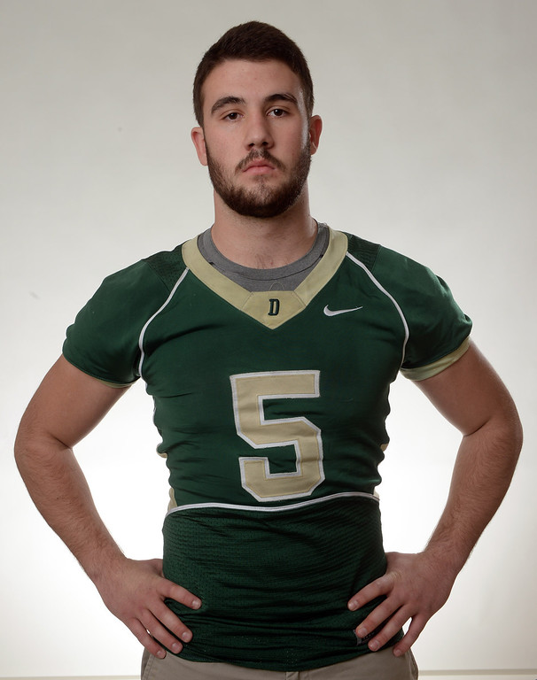 . Damien\'s Matt Daley All Area Football mugs in West Covina, Calif., on Thursday, Dec. 12, 2013.   (Keith Birmingham Pasadena Star-News)