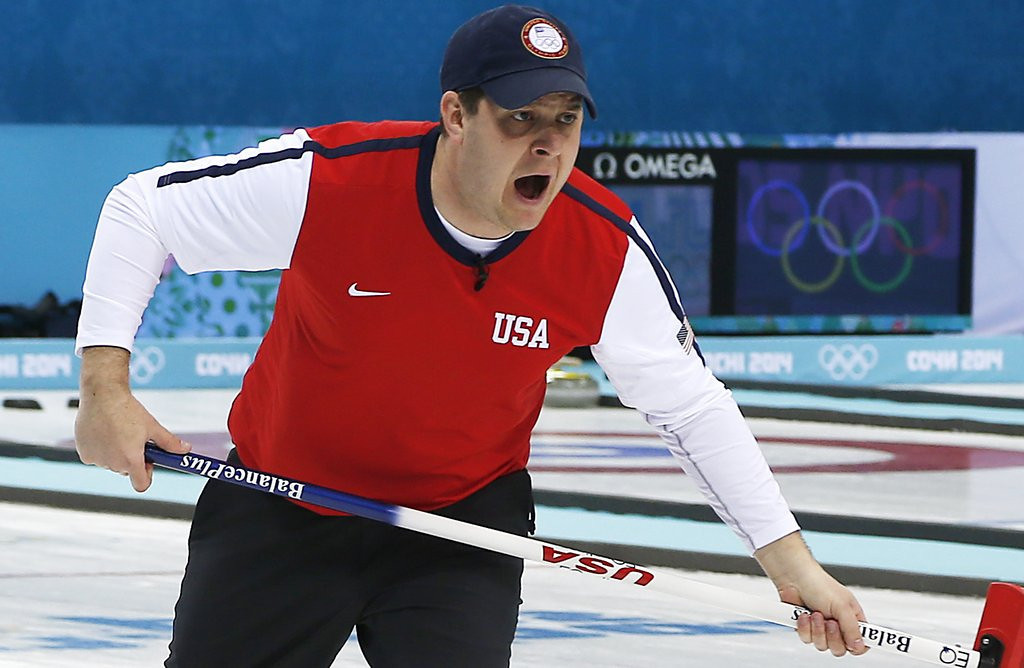 """. <p><b> The U.S. men�s and women�s curling teams were overcome with grief earlier this week when they realized they were out of � </b> <p> A. Olympic medal contention <p> B. Opportunities to finish with a winning record in Sochi <p> C. Beer <p><b><a href=\'http://www.twincities.com/olympics/ci_25157694/olympics-u-s-curling-teams-eliminated\' target=\""""_blank\"""">HUH?</a></b> <p>    (AP Photo/Wong Maye-E)"""