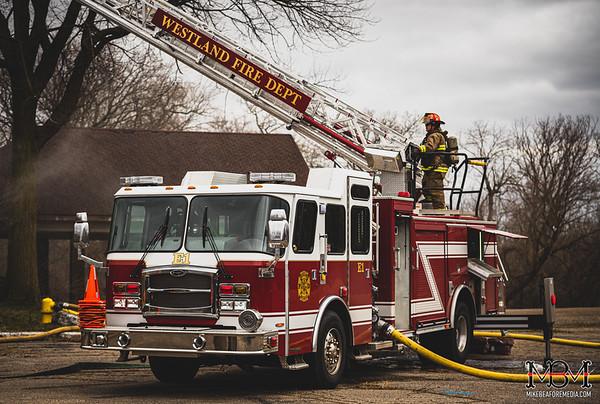 Westland MI, Commercial Fire 3-20-2020