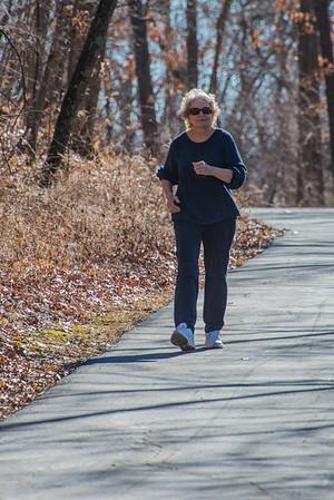 Caryl Walking in February