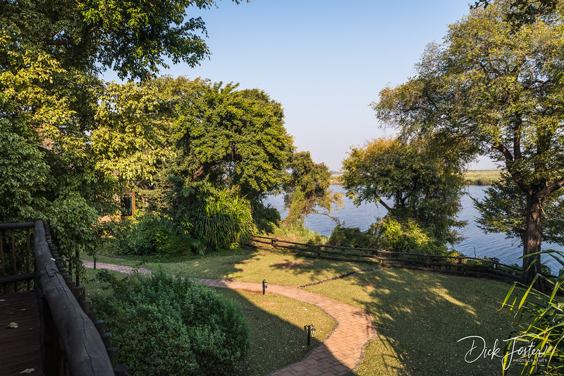 View from our Room at Chobe Marine Lodge