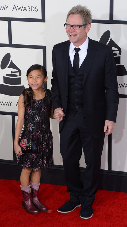 . Steven Curtis and guest arrive at the 56th Annual GRAMMY Awards at Staples Center in Los Angeles, California on Sunday January 26, 2014 (Photo by David Crane / Los Angeles Daily News)