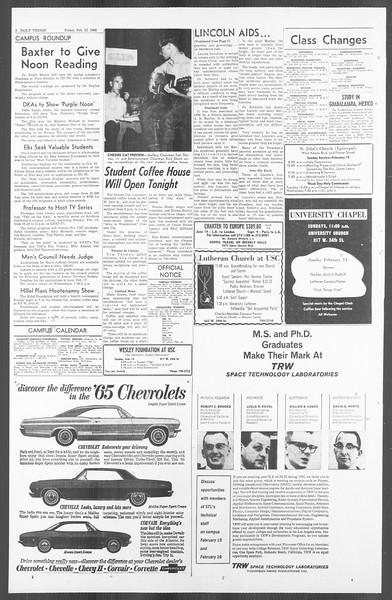 Daily Trojan, Vol. 56, No. 62, February 12, 1965
