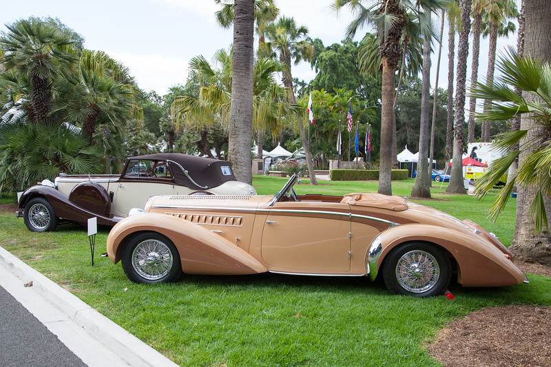 (R-L) 1938 Delahaye Model 135 Roadster By Chapron, 1936 Lagonda Drop Head Coupe