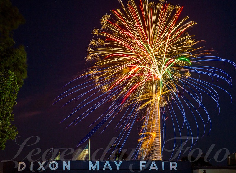 Fireworks at the Dixon Fairgrounds July 4, 2015