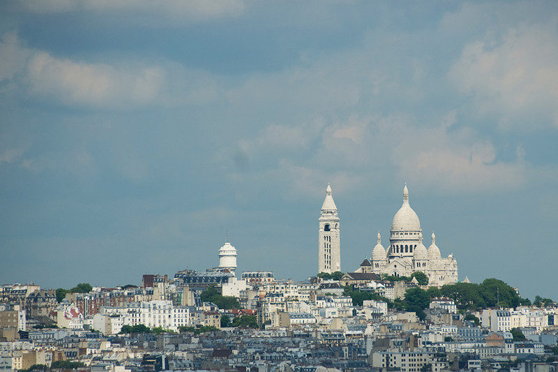 Wide shot of the Paris skyline - France